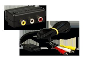 original nintendo 64 3 cinch kabel scart adapter ebay. Black Bedroom Furniture Sets. Home Design Ideas