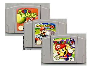 N64 SPIELE MARIO TENNIS + MARIO PARTY 1 + MARIO KART 64
